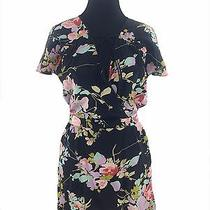 Yumi Kim Floral v-Neck Dress L Msrp 198.00 Photo