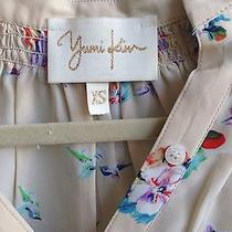 Yumi Kim Hummingbird Cream Long Sleeve Silk Blouse Top Size Xs Photo