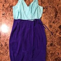 Yumi Kim Jayne Dress Light Blue Royal Blue S Rare Colorblock 159 Cocktail Tulip Photo