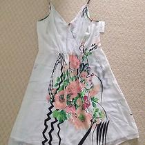 Yumi Kim White Botanical Floral Silk Goddess Dress Size Small Nwt Photo