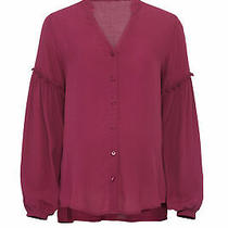Yumi Kim Women's Blouse Purple Size Medium M Button-Front Maternity 139- 666 Photo