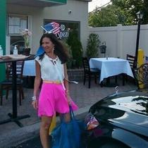 Yumi Kim Women's Cara Silk Skirt Sz S Nwt 138 Neon Pink Photo