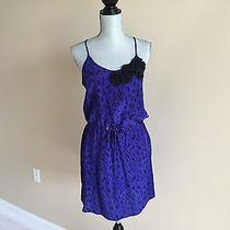 Yumi Kim Women's Casual Spaghetti Strap Printed Purple Blue Dress Size M  Photo
