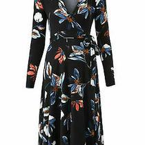 Yumi Kim Women's Dress Black Size Small S Wrap Maternity Floral Print 178- 236 Photo