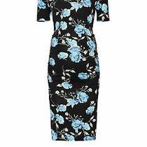 Yumi Kim Women's Dress Black Small S Maternity Sheath Floral-Print 168- 015 Photo