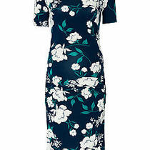 Yumi Kim Womens Dress Blue Size Large L Sheath Maternity Floral Print 168- 082 Photo