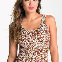 Yummie Tummie Brown/beige Leopard Tank Size Medium Brand New With Tags Photo