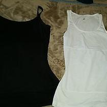 Yummie Tummie Set 2 Black White Boyfriend Tanks Tummy Control Size M Reg Photo