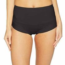Yummie Women's Tummie Tamers Mid Waist Brief Underwear Black Size Large Photo