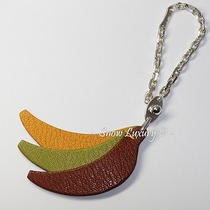 Yummy Hermes Banana Bunch Leather & Sterling Silver Bag Charm Keychain Photo