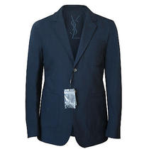 Yves Saint Laurent 1350 Navy Wool Casual Blazer Stefano Pilati Jacket 40/50 New Photo