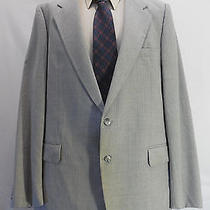 Yves Saint Laurent 44r Blazer Sport Coat Mens Pinstripe Two Button Gray Photo