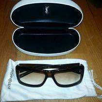 Yves Saint Laurent 6058/strass Nz3s6 Dark Brown Sunglasses Like New Photo