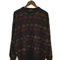 Yves Saint Laurent As62-458/sweater Thick /l/wool/multicolor/total Pattern Photo