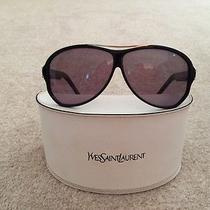 Yves Saint Laurent Black Aviator Sunglasses Photo