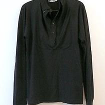 Yves Saint Laurent Black Double Layered Shirt Sz L Photo