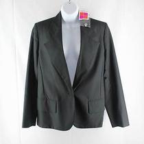 Yves Saint Laurent Black Wool Silk Tuxedo Single Breasted Blazer Jacket Nwt 38 Photo