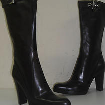 Yves Saint Laurent Boots Woman in Brown Leather Size 7.5- 8  Made in Italy Photo
