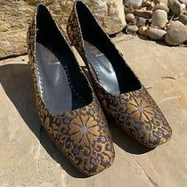 Yves Saint Laurent Brown/gold/purple Pumps Size 39 Slightly Worn See Pics Photo