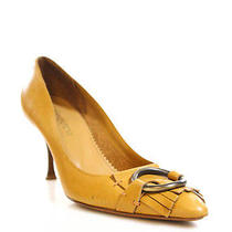 Yves Saint Laurent Camel Brown Leather Fringe Detail Pointed Toe Pumps Sz 36 6 Photo
