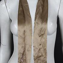 Yves Saint Laurent Champagne Silk Satin Scarf Photo