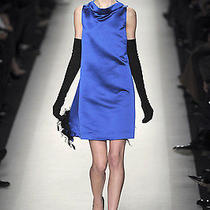 Yves Saint Laurent Couture Runway Royal Blue Bell Dress 44 Nwt 1600 Photo