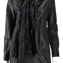 Yves Saint Laurent Dark Plaid Silk Taffeta Shift Dress 40 Photo