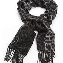 Yves Saint Laurent Designer Ysl Animal Print Cashmere Wool Scarf New Photo