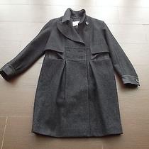 Yves Saint Laurent Double-Breasted Black Wool Coat Fr 38/ Us 6 Photo