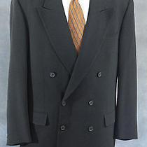 Yves Saint Laurent Double Breasted Pure Wool Black Blazer Suit Jacket Euc Photo