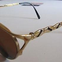 Yves Saint Laurent Eyeglass Sunglasses Frames Ysl Gold & Black Y104 Photo
