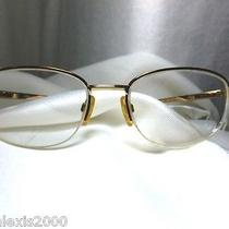 Yves Saint Laurent Glasses Gold Tone Correction Vintage Rare Photo