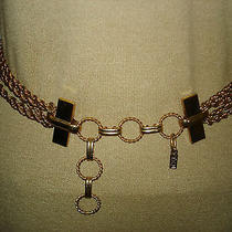 Yves Saint Laurent Gold Tone 6 Strands Chain Belt/necklace Vintage Photo