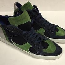 Yves Saint Laurent Green High Top Sneaker Shoes Ysl Size 45 Sz Us 12 Authentic Photo