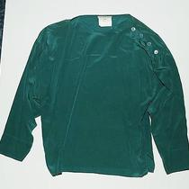 Yves Saint Laurent Green Silk Blouse Photo