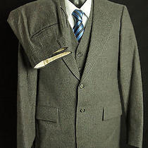 Yves Saint Laurent Grey 3 Piece Pinstripe Suit Mens Size 32s 30w Photo