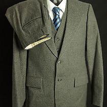 Yves Saint Laurent Grey 3 Piece Pinstripe Suit Mens Size 32s 30w Photo