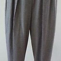 Yves Saint Laurent Heather Gray Wool Flanel Pleated Menswear Trouser Pant 42/8 Photo