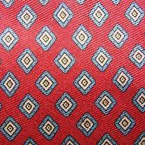 Yves Saint Laurent Indianred Khaki Small Diamonds Silk Necktie Tie Moc2215a T01 Photo