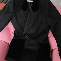 Yves Saint Laurent Jacket Black Made in France Size 6  (France Size 38). Photo