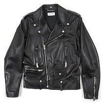 Yves Saint Laurent L01 Classic Motorcycle Jacket Black - Mens Eu48 Photo