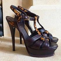 Yves Saint Laurent Leopard Ponyhair Tribute Shoes Size Uk 3.usa 6. Eu 36 Photo