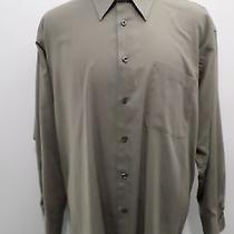 Yves Saint Laurent Light Brown Button Front Shirt  Size Xl 33-33 / 17 Photo