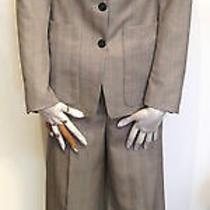 Yves Saint Laurent Light Grey Pinstripe Pant Suit Photo