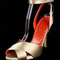 Yves Saint Laurent Light Powder Satin Eva 105 Strappy Platform Sandals 38 Photo