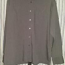 Yves Saint Laurent Long Sleeve Button Front Mens Xl Gray  Photo