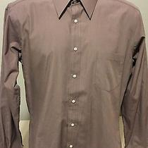 Yves Saint Laurent Long Sleeve Dress Shirt Button Front 15 1/2 Photo