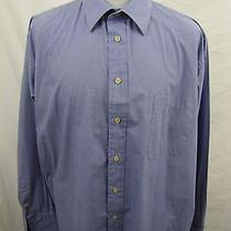 Yves Saint Laurent Ls Blue French Cuff Dress Shirt Men's 17.5 / 44 Euc Photo