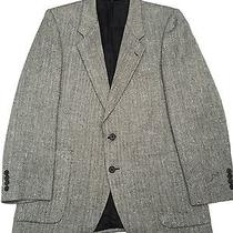 Yves Saint Laurent Made in France Baron's Black White Herringbone Men's Blazer Photo