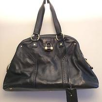Yves Saint Laurent Medium Black Leather Muse Bag  Photo